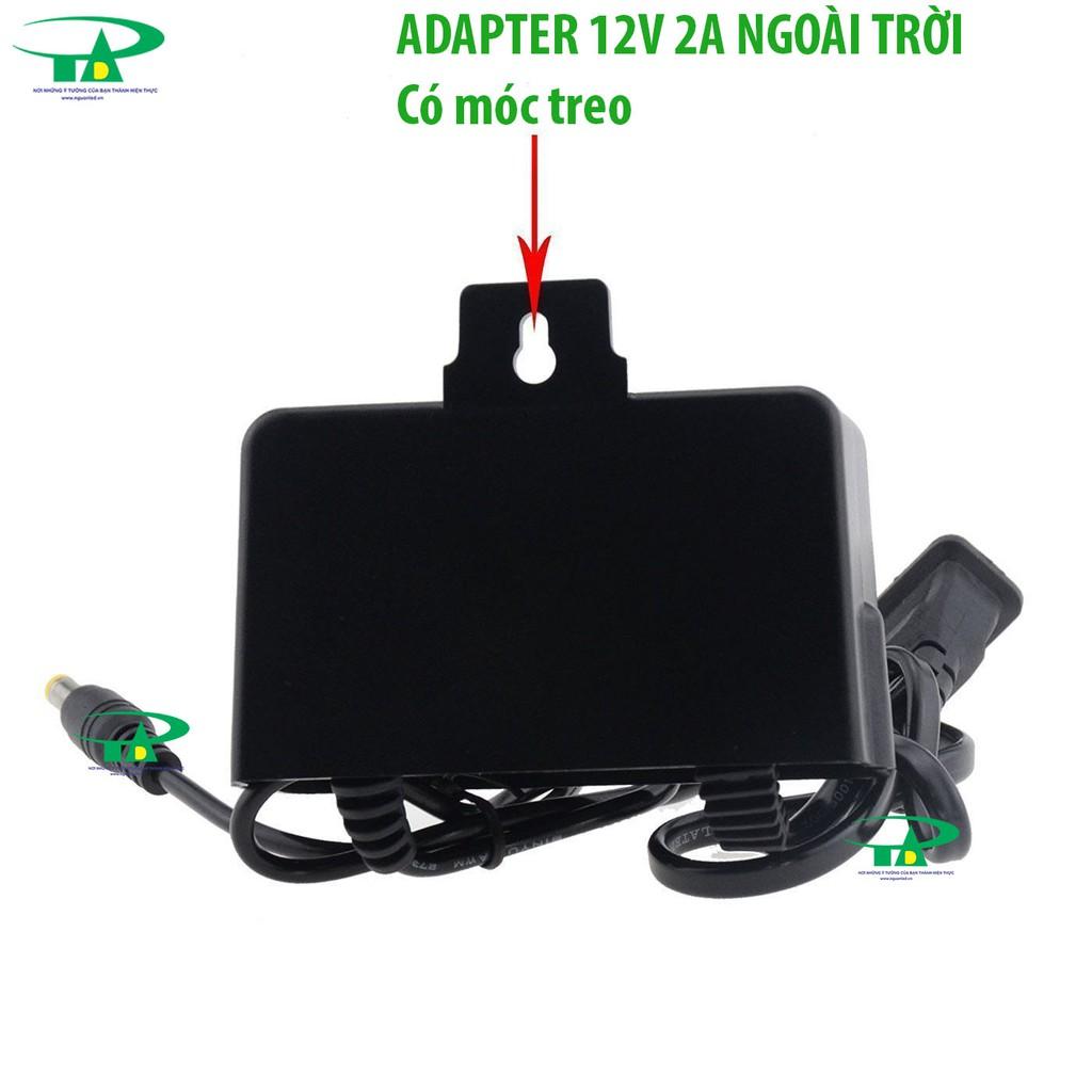 Nguồn camera 12V 2A hộp xanh, nguồn 12V2A hàng tốt