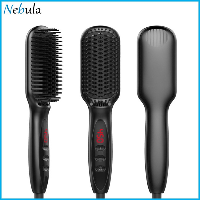 Professional Negative Ion Hair Straightener Electric Comb for All Hair Types