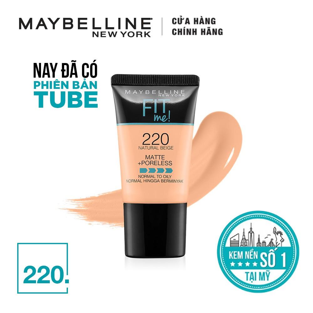 Hình ảnh Kem nền lì mịn tự nhiên Maybelline Fit Me Tube 18 ml-2