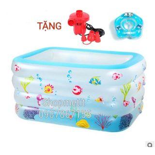 Bể bơi 4 tầng. Kt: 140*100*75 cm. ( tặng bơm điện và phao nâng cổ)