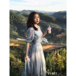 Váy mãi voan tơ V1461 – DVC Fashion (Kèm ảnh thật trải sàn do shop tự chụp)