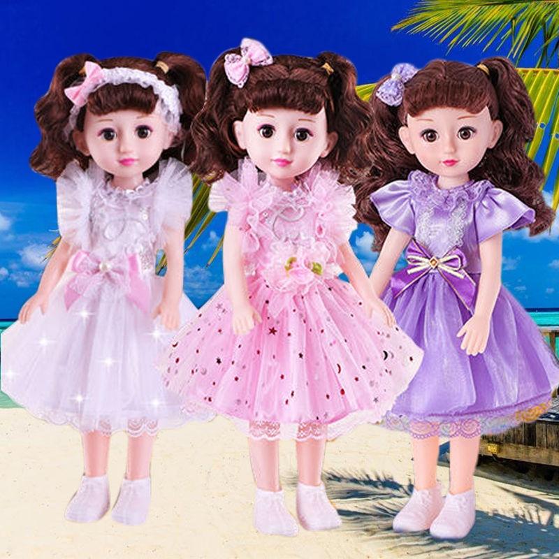 Good Tongue of the Barbie Doll Set Little Girl Baby tong wan ju Intelligent Simulation Doll Super Princess