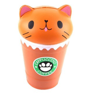 Pressure Relief Toys Cat Coffee Cup Soft Squishy Slow Rising Squeeze Toys