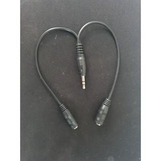 Cáp chia âm thanh jack 3.5mm - Dùng cho 2 thiết bị cùng lúc - Dùng được cả mic và nghe nhạc (ảnh thật)