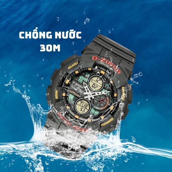 Đồng Hồ Điện Tử Thể Thao Nam D-ZINER Chính Hãng DZ8278 Full Box Thiếc Chống Nước 30M