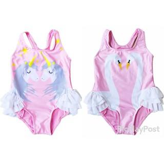 Đồ bơi một mảnh bé gái bộ đồ bơi thiên nga màu hồng siêu xinh đủ size