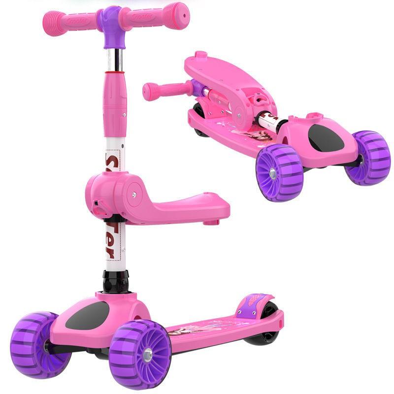 Tân Cương miễn phí vận chuyển xe scooter trẻ em ba trong một yo bé có thể đi và tay ga chân