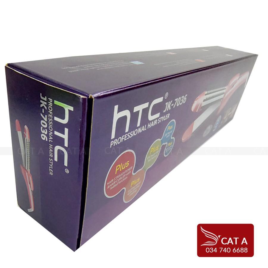 [JK7036] Máy uốn tóc chính hãng HTC, Là tóc, Tạo kiểu, Duỗi tóc suôn mượt - Mức Nhiệt đảm bảo không gãy tóc JK7036