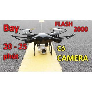 Flycam giá rẻ FLASH 2000 bay 20-25 Phút có CAMERA kèm theo