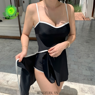 [mingyuan] 2020 two-piece skirt white black sling triangle hot spring beach items new female swimwear thumbnail