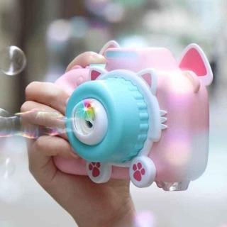 Máy ảnh bắn bong bóng có nhạc+ đèn