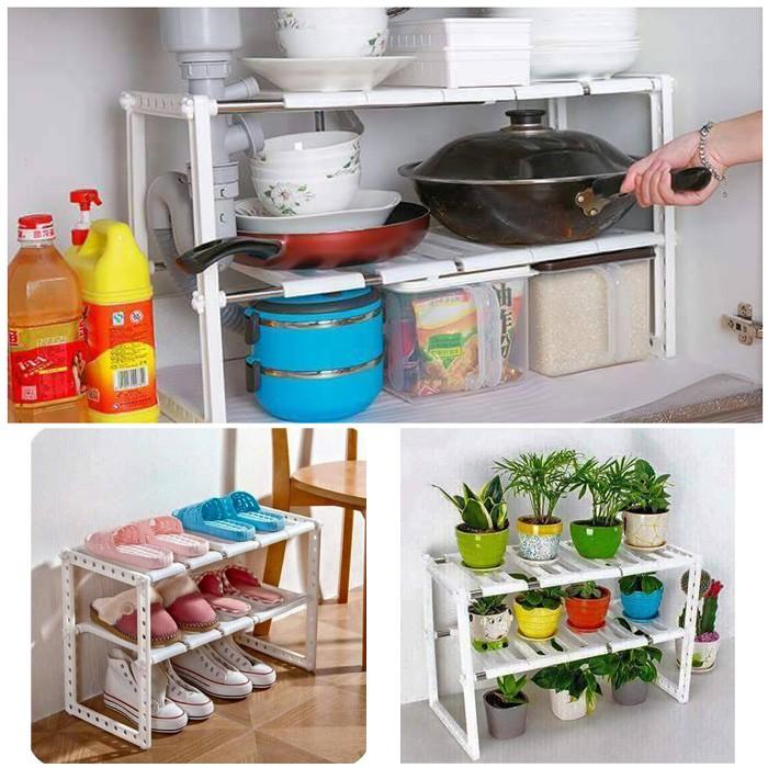 Kệ để đồ gầm bếp đa chức năng - 3283436 , 479662473 , 322_479662473 , 130000 , Ke-de-do-gam-bep-da-chuc-nang-322_479662473 , shopee.vn , Kệ để đồ gầm bếp đa chức năng