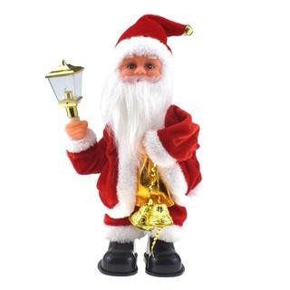 Christmas Santa Claus Shaking Butt Electronic Toy Music Light Doll Xmas Decor Ornament