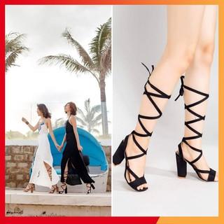 Giày cao gót chiến binh cột dây - Boho Vintage Style thumbnail