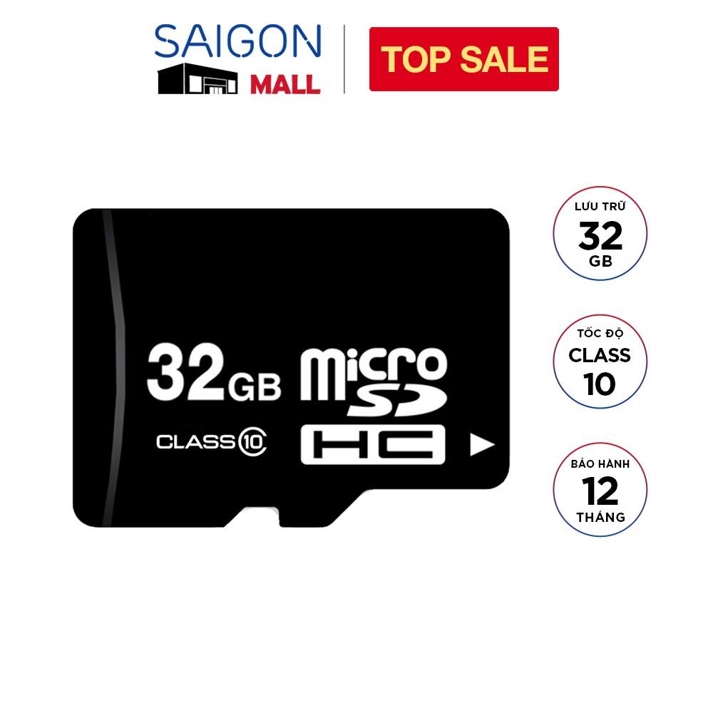Thẻ nhớ 32GB micro SDHC class 10 - Bảo hành 12 tháng đổi mới