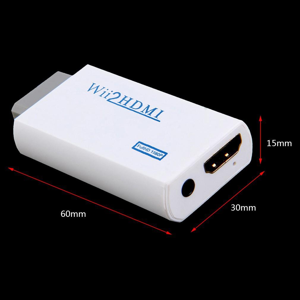 Đầu Chuyển Đổi Từ Cổng Wii Sang Hdmi 1080p Với Đầu Ra Âm Thanh 3.5mm