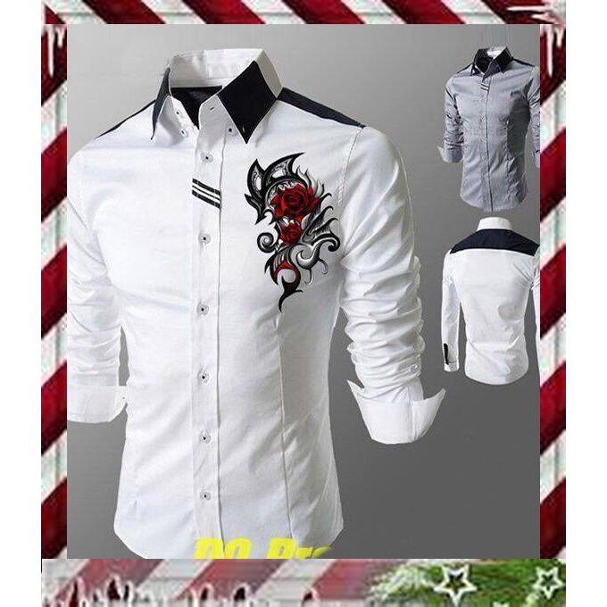 Áo Sơ Mi Nam Body Tay Dài Cho Giới Trẻ,áo sơ mi nam cao cấp họa tiết đẹp