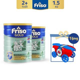 """[Tặng Bộ Xe Kéo Cho Bé] Combo 2 Lon Sữa Bột Friso Gold 4 (1500G/Lon) giá chỉ còn <strong class=""""price"""">125.300.000.000đ</strong>"""