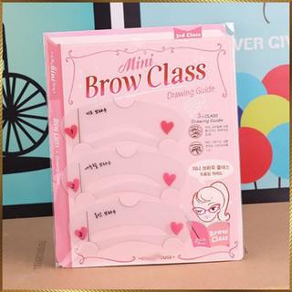 Khuôn kẻ lông mày Mini Brow Class bộ 3 kiểu BC3-3