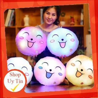 (Rẻ Bất Ngờ) Gối tròng hình mặt cười có đèn (4 màu)–7699 (Ưu Đãi Khủng)
