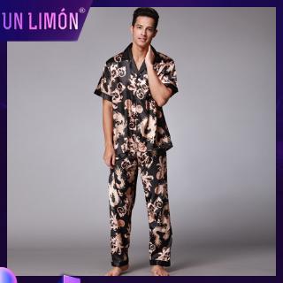 Bộ pijama lụa tay ngắn thoải mái cho nam