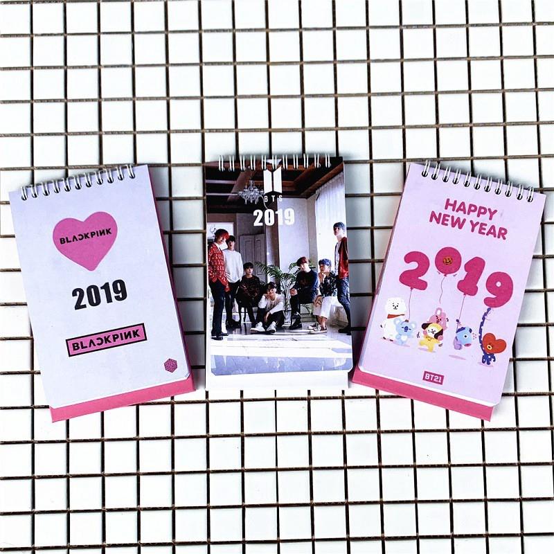 KPOP BTS Bangtan Boys BT 21 BLACKPINK Album 2019 ปฏิทินตั้งโต๊ะ