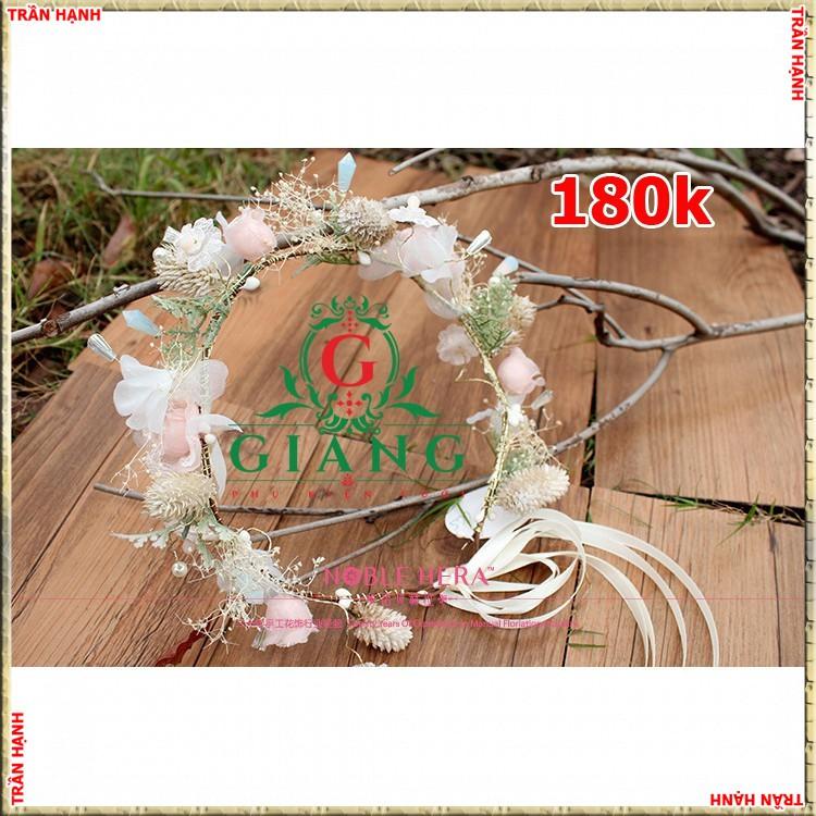 Vòng hoa cô dâu chụp hình ngoại cảnh đẹp gắn pha lêTH - 22867109 , 2701283242 , 322_2701283242 , 207000 , Vong-hoa-co-dau-chup-hinh-ngoai-canh-dep-gan-pha-leTH-322_2701283242 , shopee.vn , Vòng hoa cô dâu chụp hình ngoại cảnh đẹp gắn pha lêTH