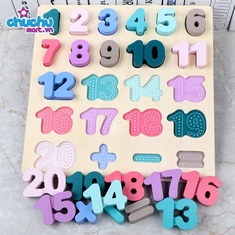 Bảng ghép số thứ tự làm toán gỗ cao cấp