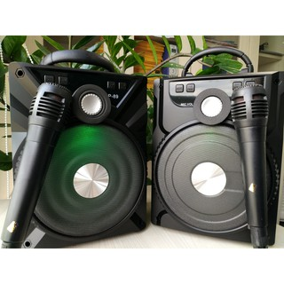 Loa Karaoke Bluetooth Mini P87 P88 P89 Tặng Mic Có Dây Hát Cực Hay