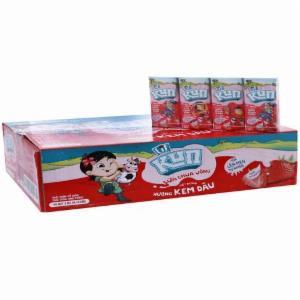 Sữa Chua Uống Tiệt Trùng Kun Vị Dâu Hộp 110ml (Thùng 48 hộp)