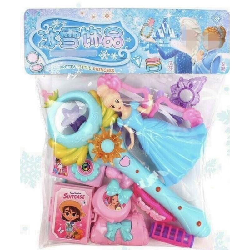 Túi Đồ Chơi Công Chúa Elsa Kèm Gậy Thiên Thần Phát Sáng Dành Cho Bé