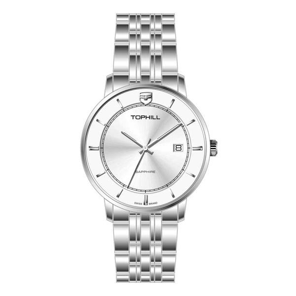 Đồng hồ nam chính hãng TOPHILL TA037G - Dây thép - kính Saphire
