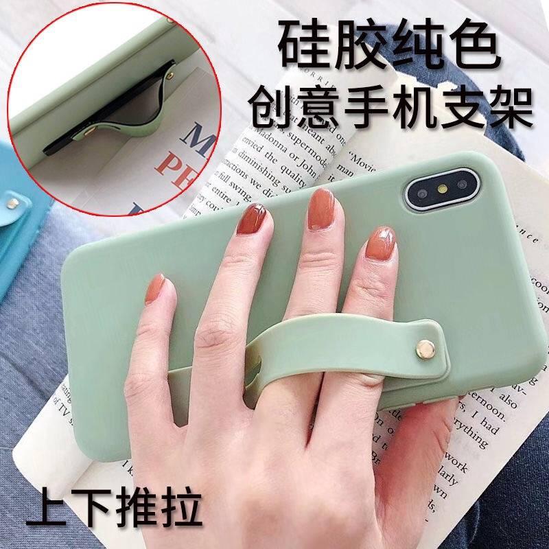 Giá đỡ đeo tay cho điện thoại thiết kế màu trơn tiện dụng