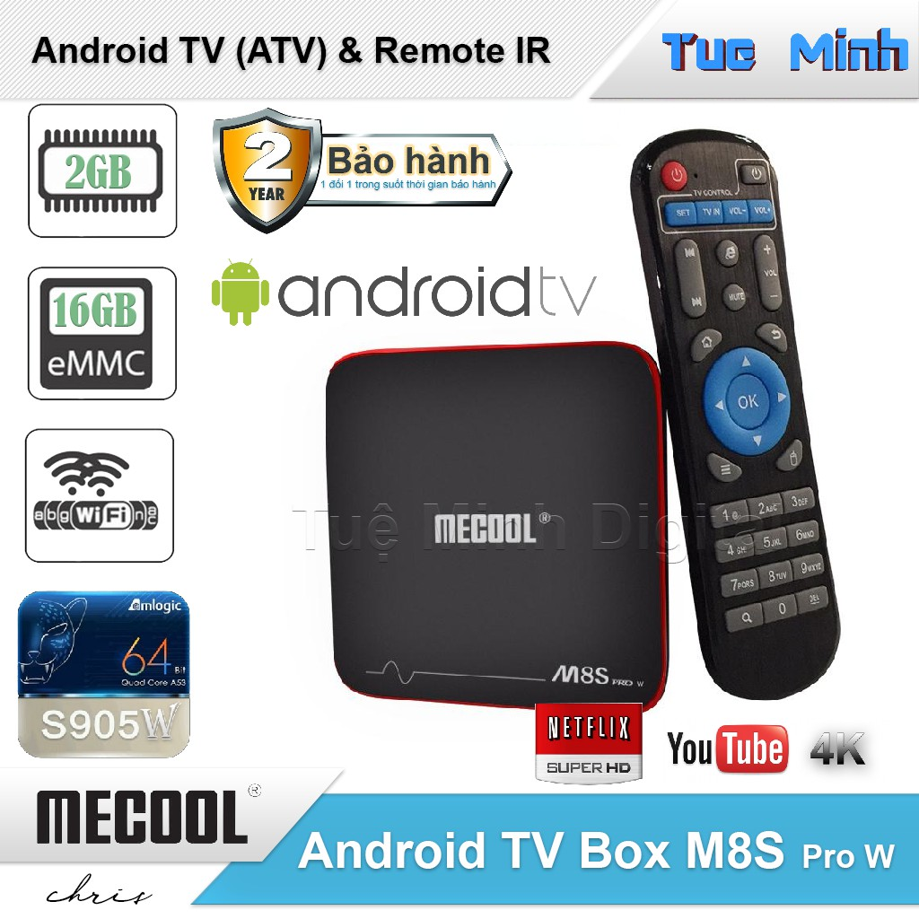 Android TV Box Mecool M8s Pro W - AndroidTV OS, Điều khiển IR, S905W, Ram 2G, Rom 16G - 3062733 , 1325150228 , 322_1325150228 , 950000 , Android-TV-Box-Mecool-M8s-Pro-W-AndroidTV-OS-Dieu-khien-IR-S905W-Ram-2G-Rom-16G-322_1325150228 , shopee.vn , Android TV Box Mecool M8s Pro W - AndroidTV OS, Điều khiển IR, S905W, Ram 2G, Rom 16G