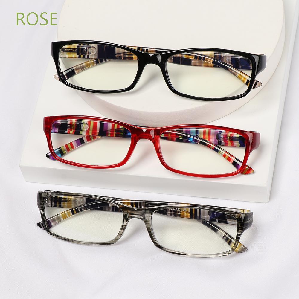 ROSE Fashion Reading Glasses Elegant Ultra Light Frame Anti-Blue Light Eyeglasses Portable Women Men Comfortable Vintage Eye Protection/Multicolor