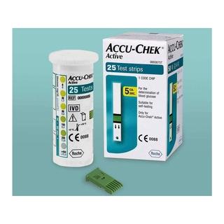 Que thử đường huyết Accu-Check Active lọ 25 que - Công nghệ Đức - Hàng chính thumbnail