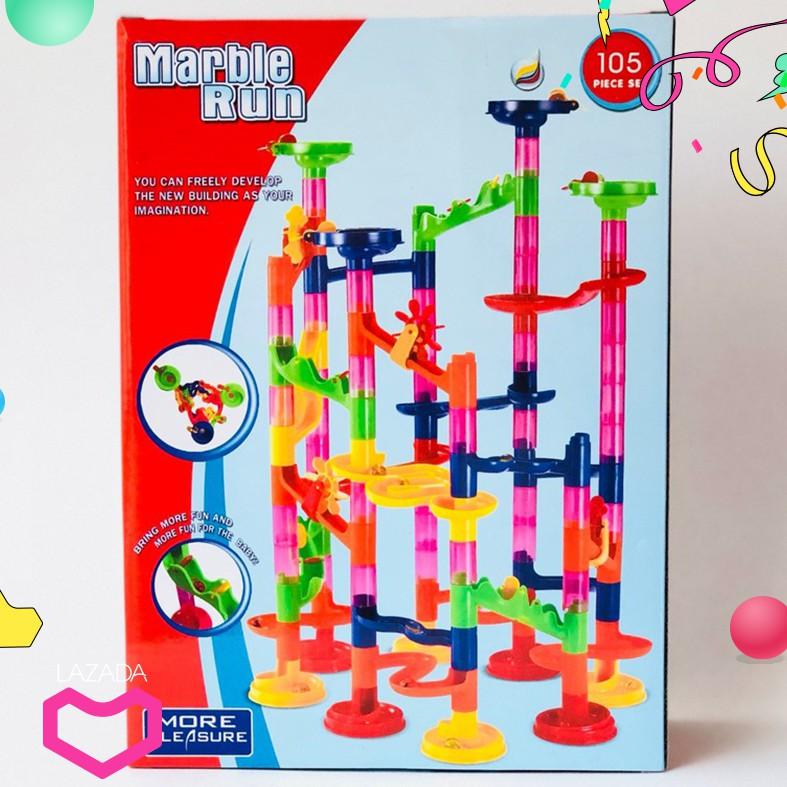 Bộ ghép tháp lăn bị Marble run Đồ chơi lắp ráp mô hình cho trẻ em