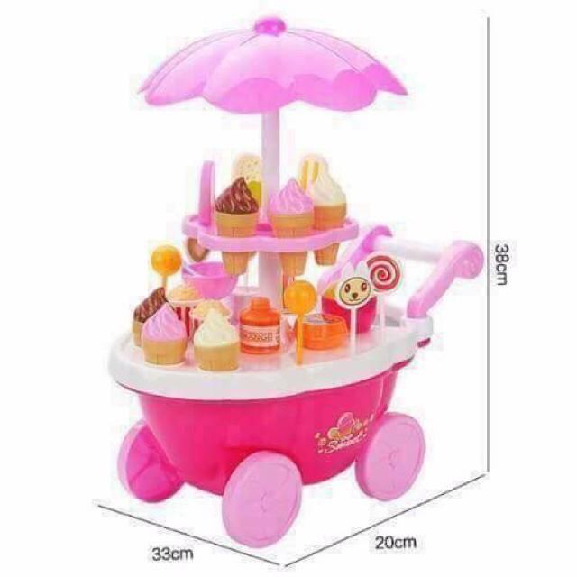 HÀNG MỚIBộ đồ chơi xe đẩy bánh kem cho bé.