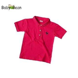 Áo thun Cotton có Cổ hình Tuần Lộc tay ngắn bé trai BabyBean