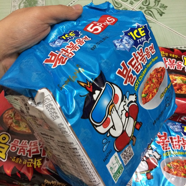 |Lốc Mỳ Hàn| Mỳ Trộn Cay SamYang Ice Hot Chicken 755g (5 gói x151g)