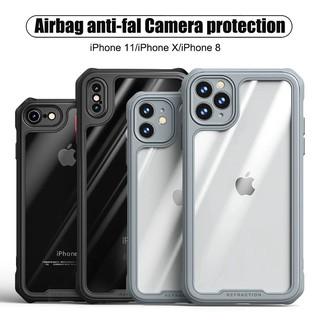 Ốp điện thoại Tpu acrylic bảo vệ bốn góc chống sốc chống rơi cho iPhone 11 11Pro Max Xs max XR SE2 7 8 Plus