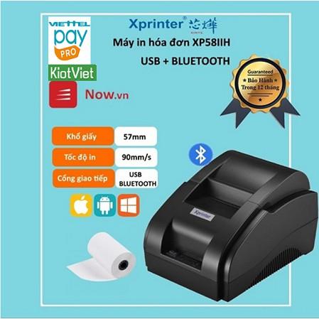 Máy in hóa đơn XPINTER XP58IIH Kết nối cổng USB + Bluetooth