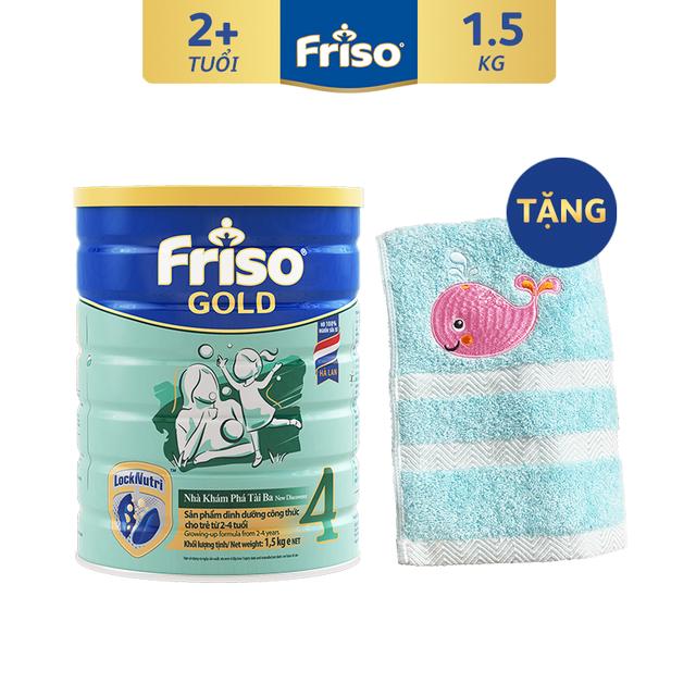 [Tặng Khăn Tắm Cá Voi Cao Cấp] Sữa Bột FRISO GOLD 4 1500g