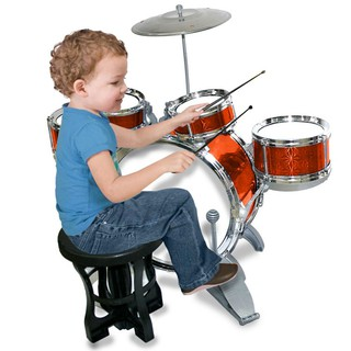 Bộ Trống Jazz Drum 5 Trống Cho Bé Phát Triển Trí Tuệ