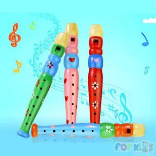 Đồ chơi âm nhạc, sáo gỗ nhạc cụ cho bé