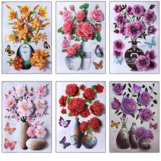 Yêu ThíchTranh Decal 3D Hoa Nổi ☘FREESHIP☘ Tranh Dán Tường Trang Trí Phòng Đẹp Mắt, Có Keo Dán -GD142