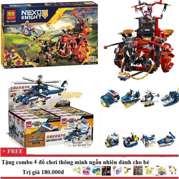 Lego xếp hình combo 02 bộ NEXO + CHIẾN CƠ SIÊU HẠNG - 3410000 , 862428781 , 322_862428781 , 820000 , Lego-xep-hinh-combo-02-bo-NEXO-CHIEN-CO-SIEU-HANG-322_862428781 , shopee.vn , Lego xếp hình combo 02 bộ NEXO + CHIẾN CƠ SIÊU HẠNG