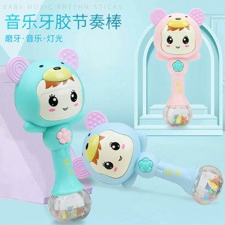 Rattle bed bell – rattle baby toy 0-3-6-12 months puzzle can bite with music rattle baby boy-…