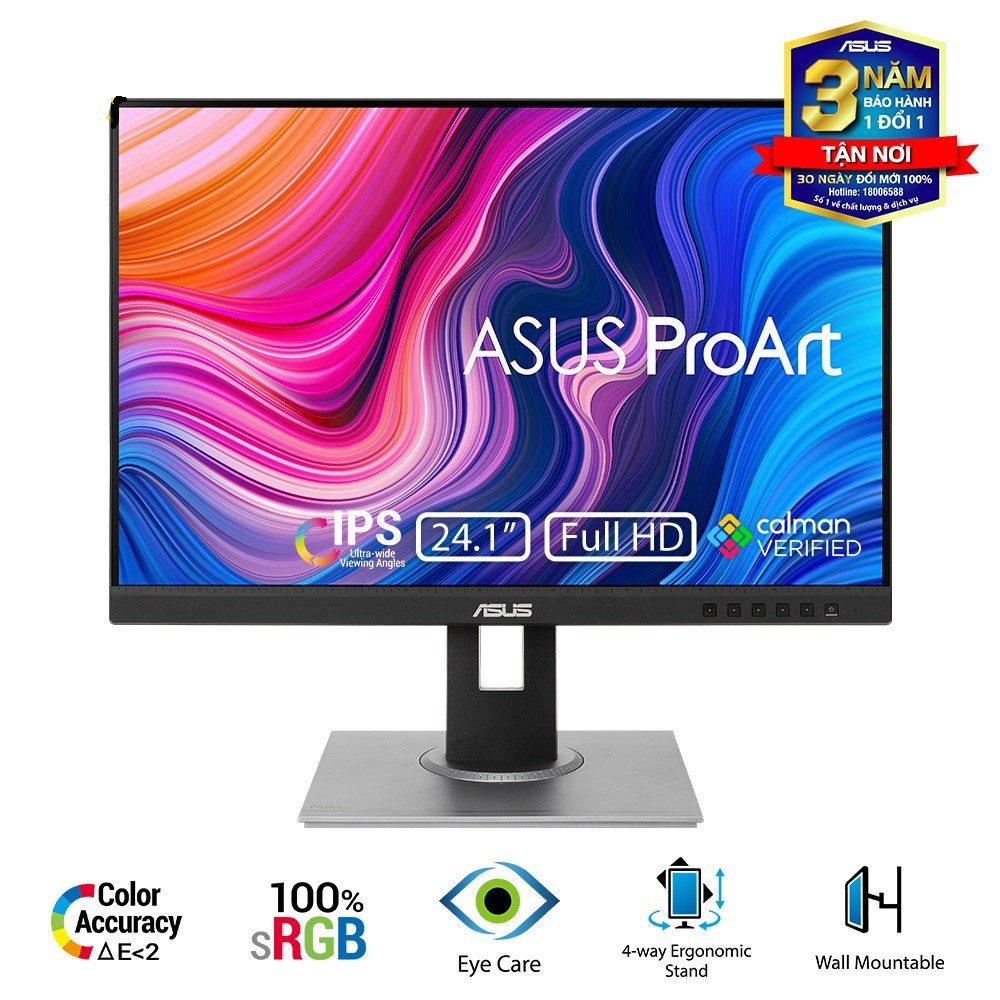 Màn hình máy tính Asus ProArt PA248QV 24.1 inch IPS FHD Chuyên Đồ Họa - Hàng Chính Hãng