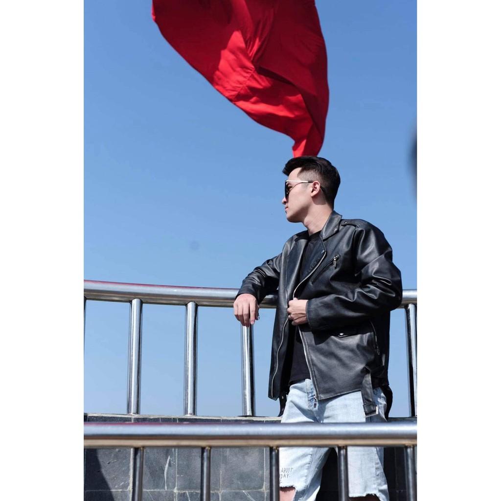 Áo da nam biker jacket 2020 KÈM ẢNH THẬT